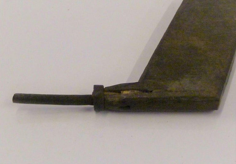 Japanese Blacksmith Tongs and Woodcarver Gouge Chisel, Early 20th Century For Sale 3