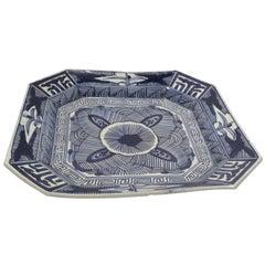 Japanese Blue and White Porcelain Platter
