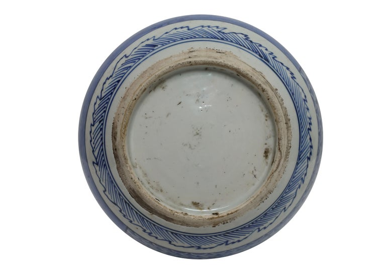 Japanese Blue and White Vase or Pot, 19th Century For Sale 1