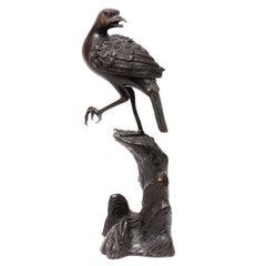 Japanese Bronze Bird Form Incense Burner