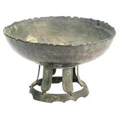 Japanese Bronze Buddhist Water Bowl from the Momoyama Period