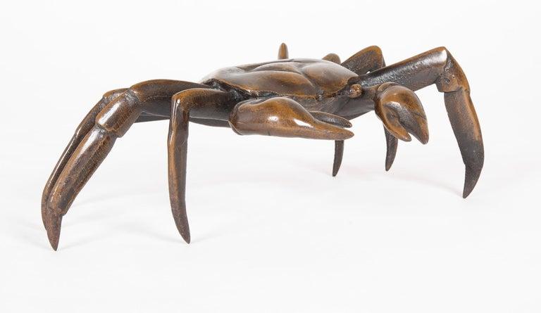 Japonisme Japanese Bronze Crab Sculpture