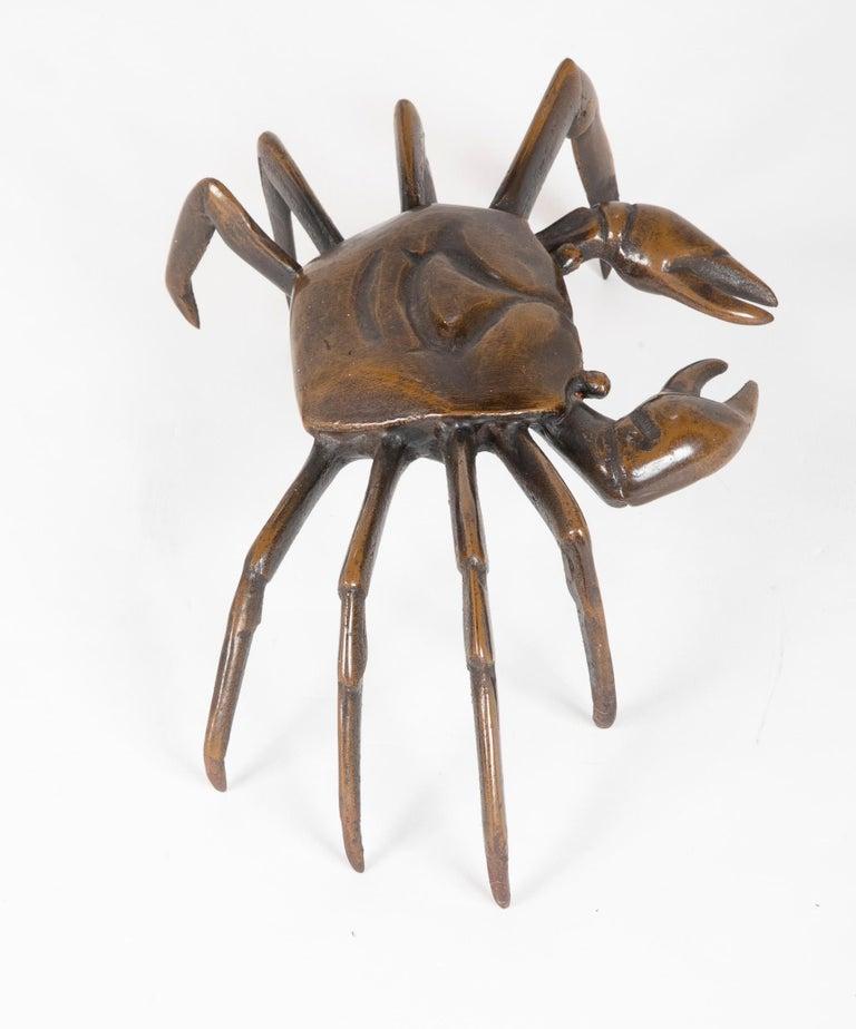 Japanese Bronze Crab Sculpture 3
