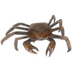 Japanese Bronze Crab Sculpture