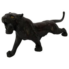 Japanese Bronze Patinated Figure of a Tiger