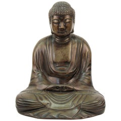 Japanese Bronze Seated Buddha
