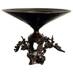 Japanese Bronze Usubata Ikebana Vessel, Meiji Period, Early 20th Century