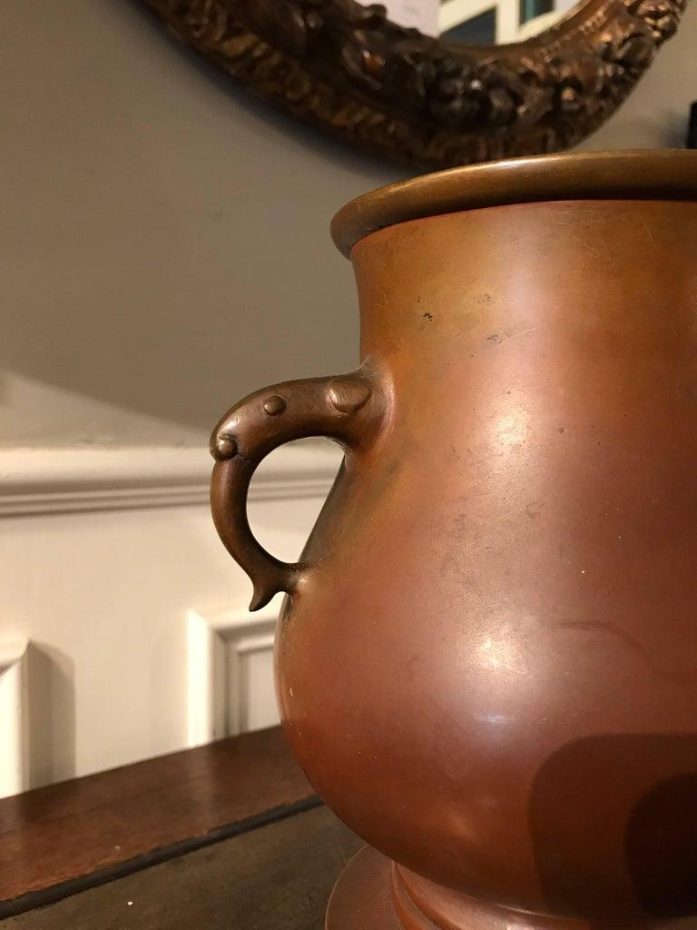 Japanese Bronze Vase on Tripod Base, Signed For Sale 7