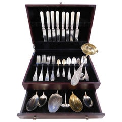 Japanese by Whiting Sterling Silver Flatware Set for 8 Service 55 Pieces Birds