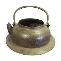 Japanese Cast Iron Tea Kettle Water Pot Tetsubin, Late 19th Century