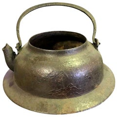 Japanese Cast Iron Tea Kettle Water Pot Tetsubin, Late 19th Century