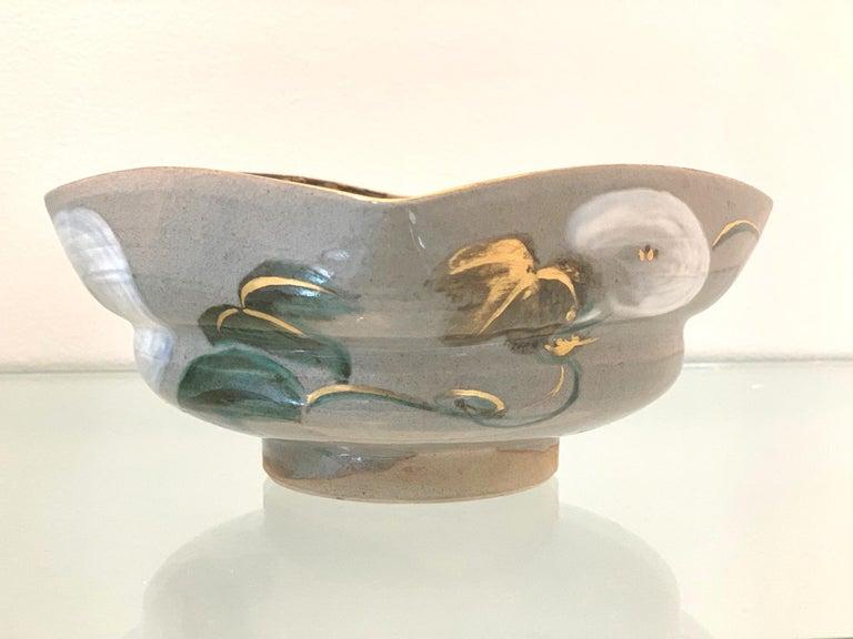 Japanese Ceramic Bowl Makuzu Kozan Utusushi Kenzan In Good Condition For Sale In Atlanta, GA