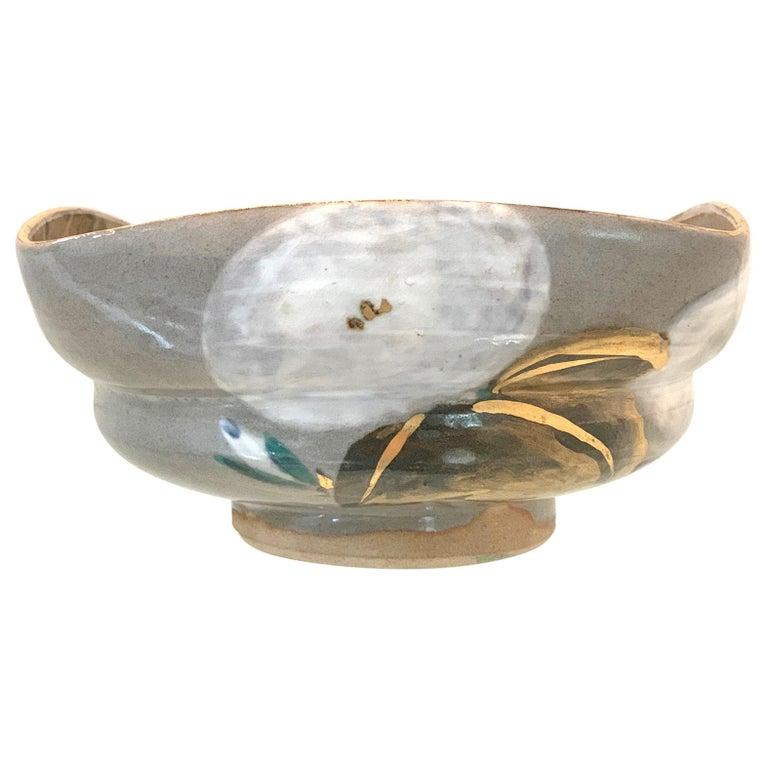 Japanese Ceramic Bowl Makuzu Kozan Utusushi Kenzan For Sale