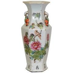 Japanese Ceramic Hand Painted Vase