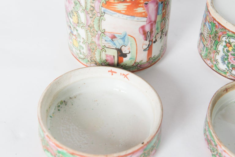 Japanese Ceramic Jar Set For Sale 2