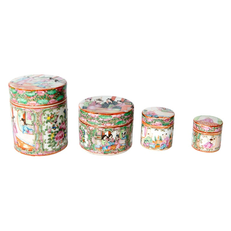Japanese Ceramic Jar Set For Sale