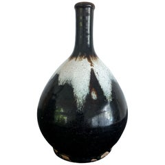 Japanese Ceramic Sake Bottle Chosen Karatsu Ware