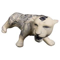 Japanese Ceramic Tiger by Luca Mamone, 2010s