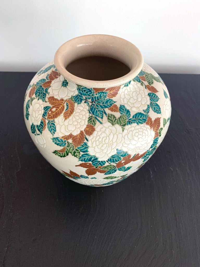 Japanese Ceramic Vase by Ito Tozan I Meiji Period For Sale 1