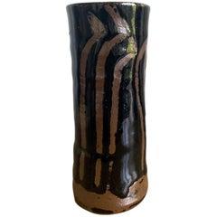 Japanese Ceramic Vase Mingei Style Hamada Shoji