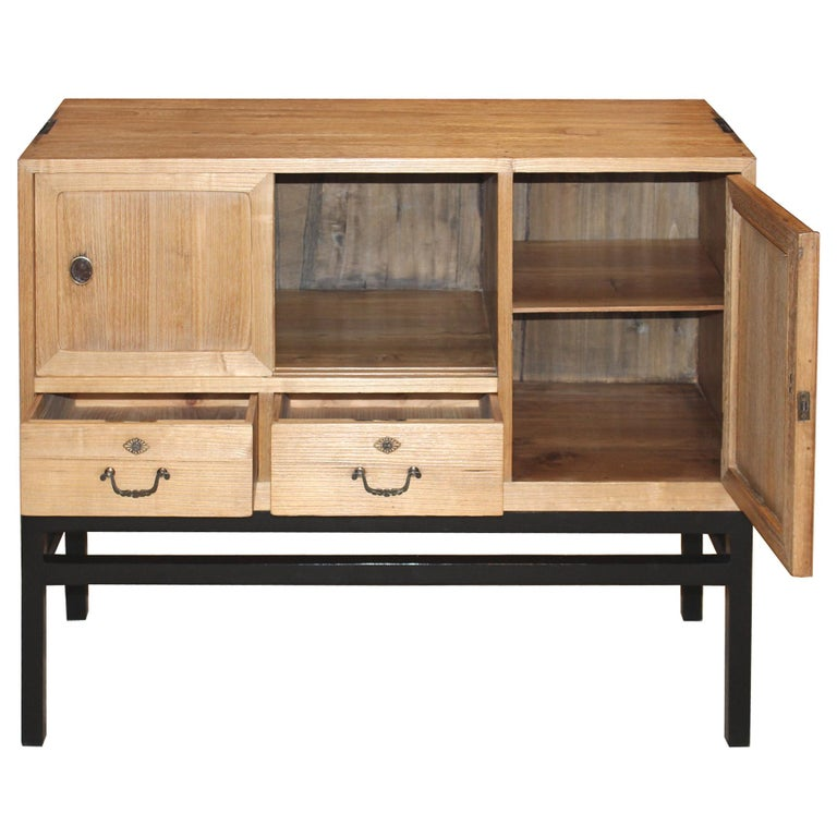 Japanese Chest with Sliding Doors In Good Condition For Sale In San Francisco, CA