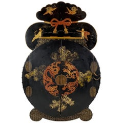Japanese Chinoisere Wood Cabinet