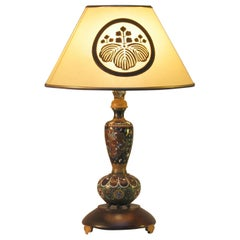 Japanese Cloisonne Composite Table Lamp Meiji Period