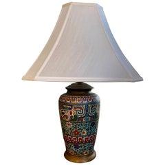 Japanese Cloisonné Lamp, circa 1910