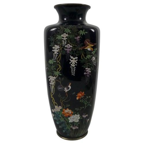 Japanese Cloisonne Vase, Meiji Period, circa 1900