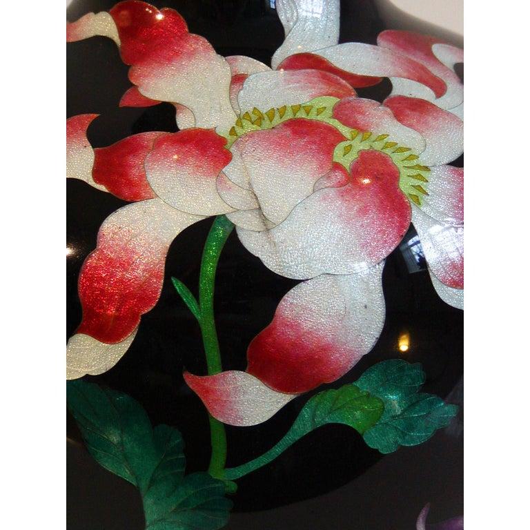 Japanese Cloisonne Vase Table Lamp For Sale 3