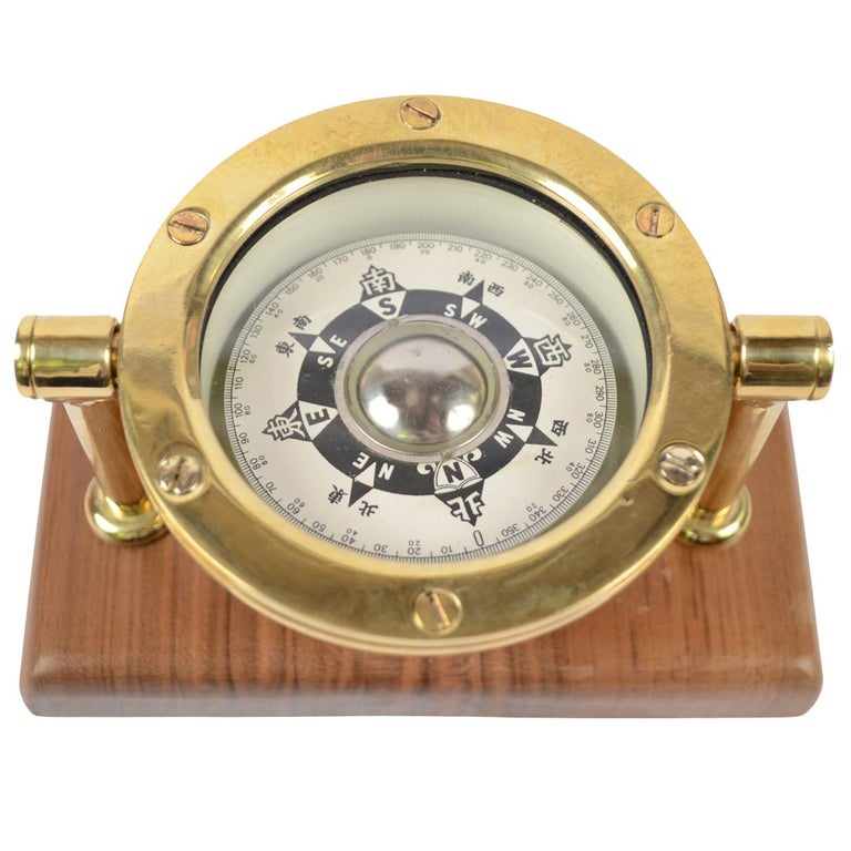 Japanese Compass Made in the Early 1900 For Sale