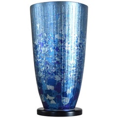 Japanese Contemporary Blow Gilded Ceramic Vase by Master Artist