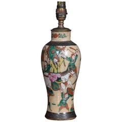 Japanese Crackle Glaze Vase Lamp
