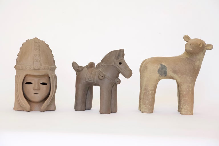 Other Japanese Decorative Haniwa Style Ceramic Figures For Sale