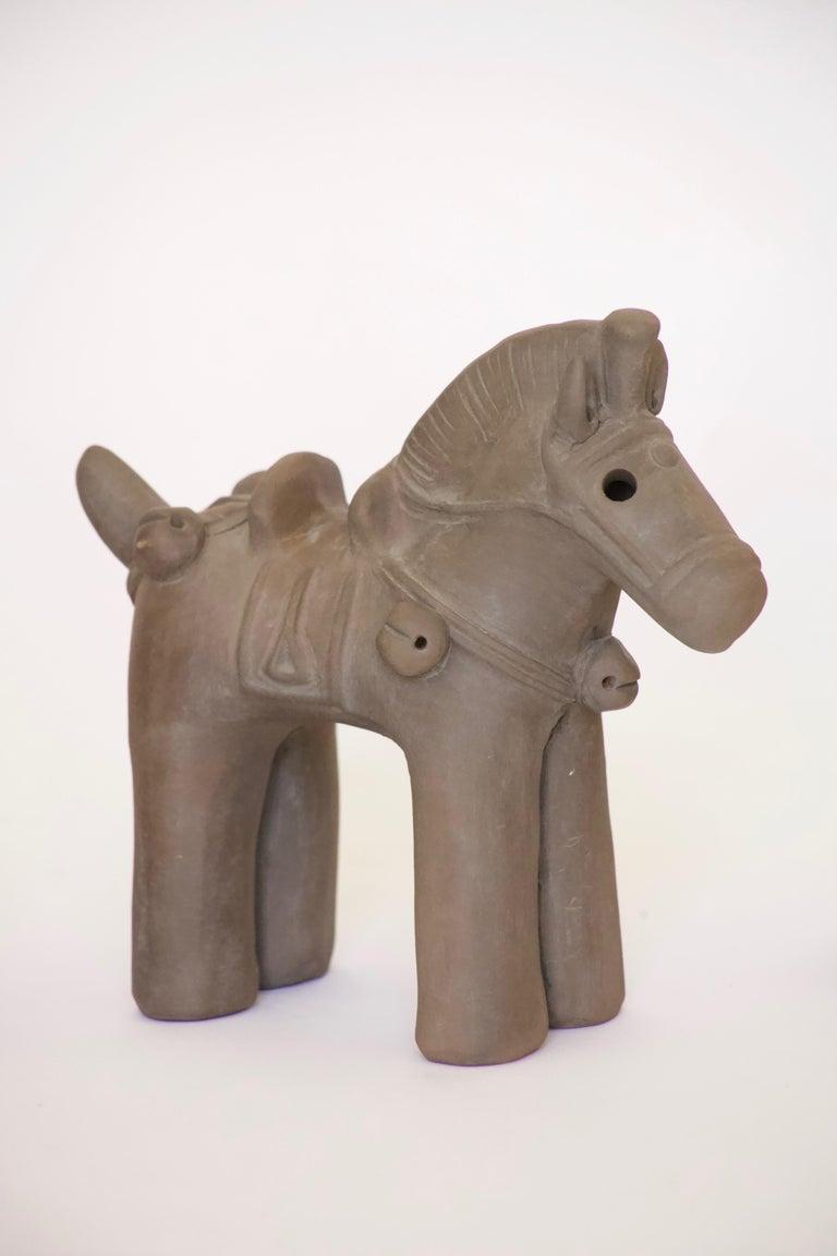 Japanese Decorative Haniwa Style Ceramic Figures For Sale 1