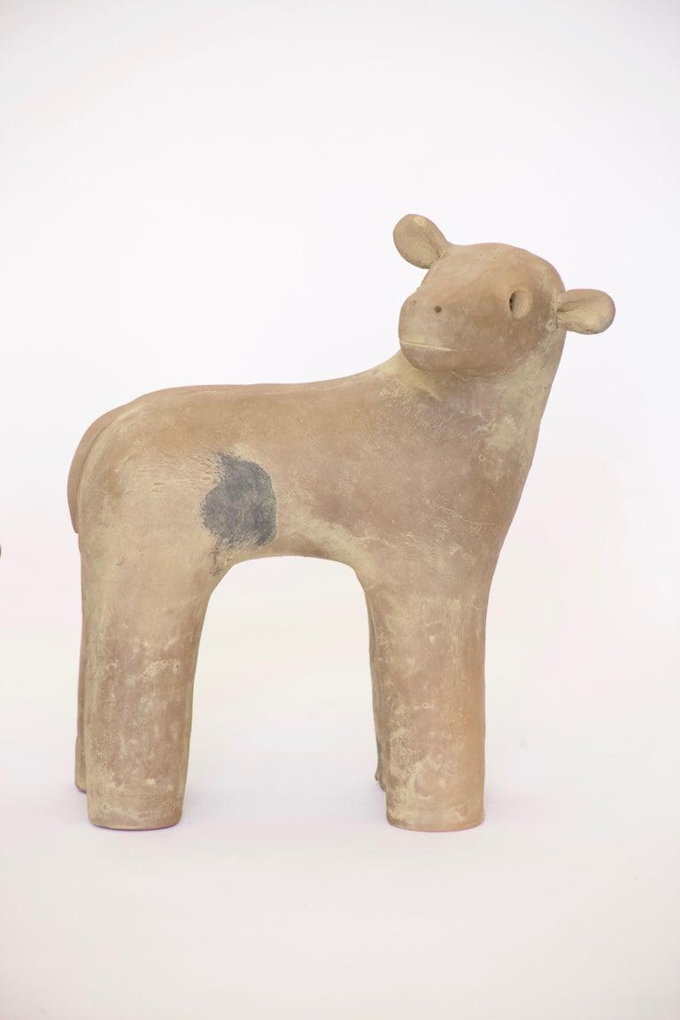 Japanese Decorative Haniwa Style Ceramic Figures For Sale 2