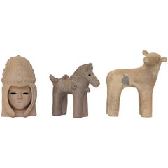 Japanese Decorative Haniwa Style Ceramic Figures