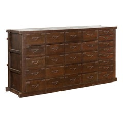 Japanese Early 20th Century Apothecary Chest with 28 Drawers and Brown Patina
