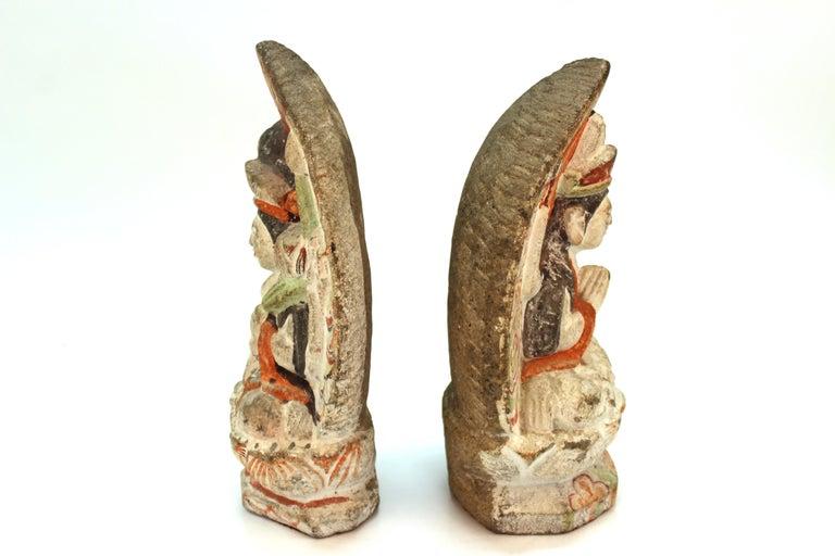 Japanese Edo Carved Stone Bodhisattva Sculptures For Sale 1