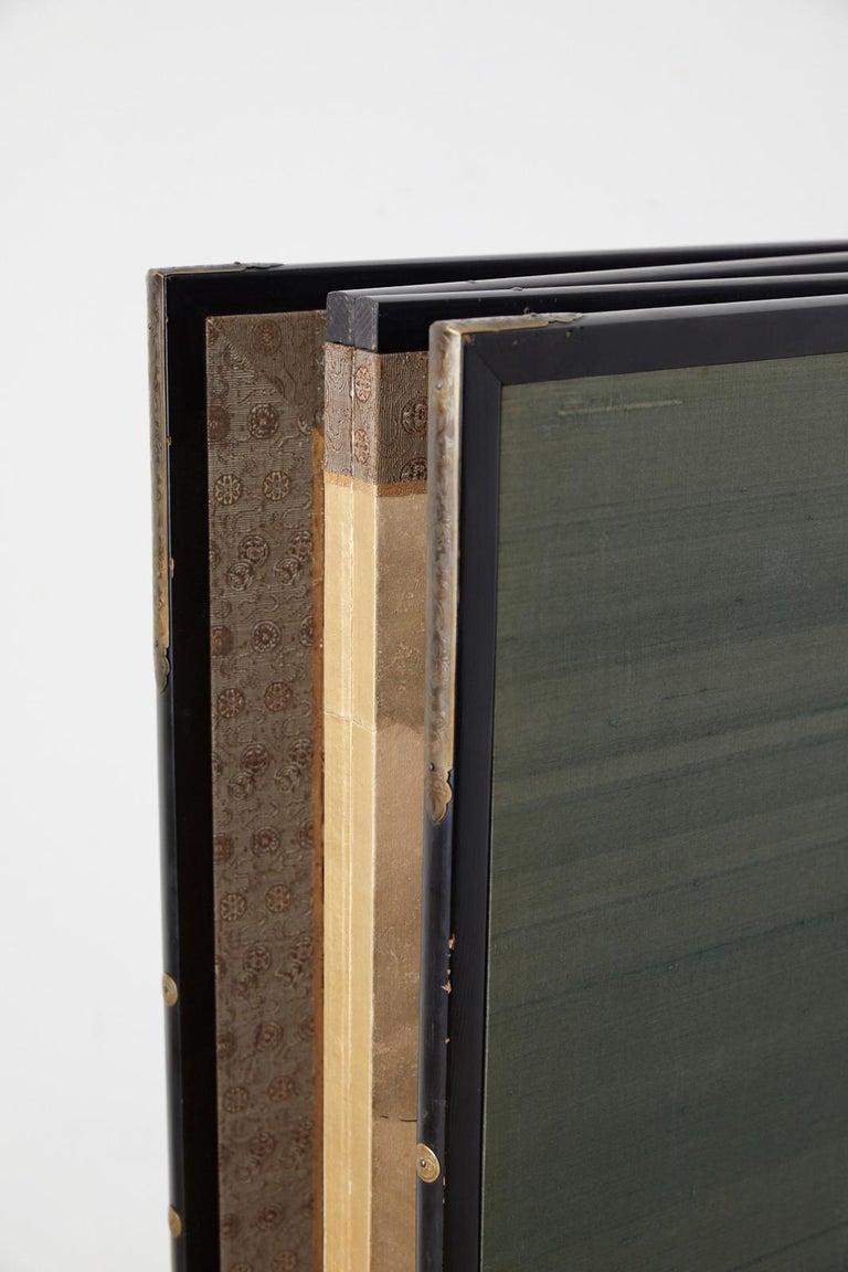 Japanese Edo Four-Panel Screen Hangzhou Autumn Landscape For Sale 13