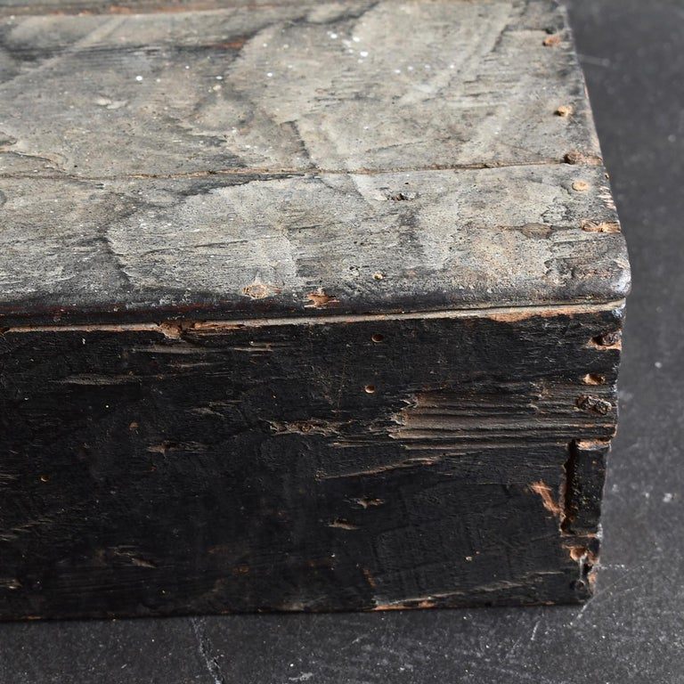 Japanese Edo Period '18th-19th Century' Wooden Box Lid For Sale 5