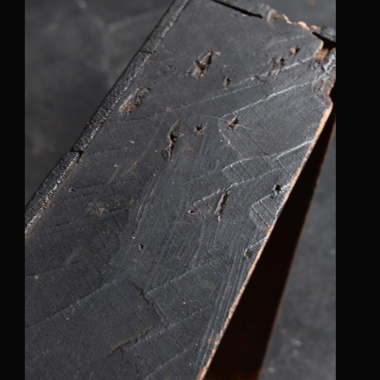 Japanese Edo Period '18th-19th Century' Wooden Box Lid For Sale 7