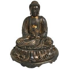 Japanese Edo Period Lacquered Wood Medicine Buddha, Yakushi Nyorai