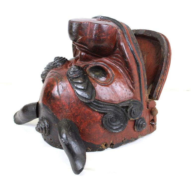 Japanese Edo Period Lion Mask For Sale 6