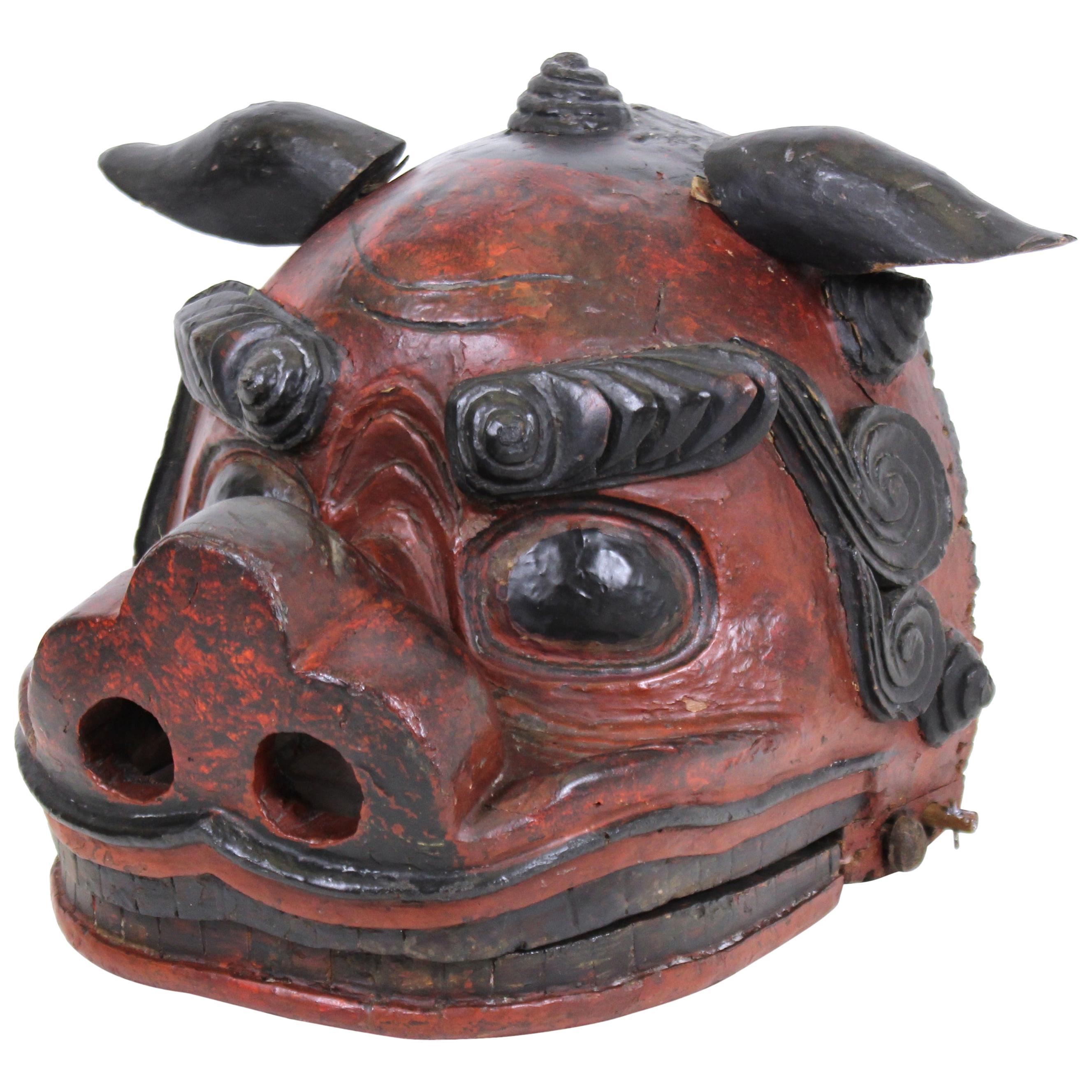 Japanese Edo Period Lion Mask