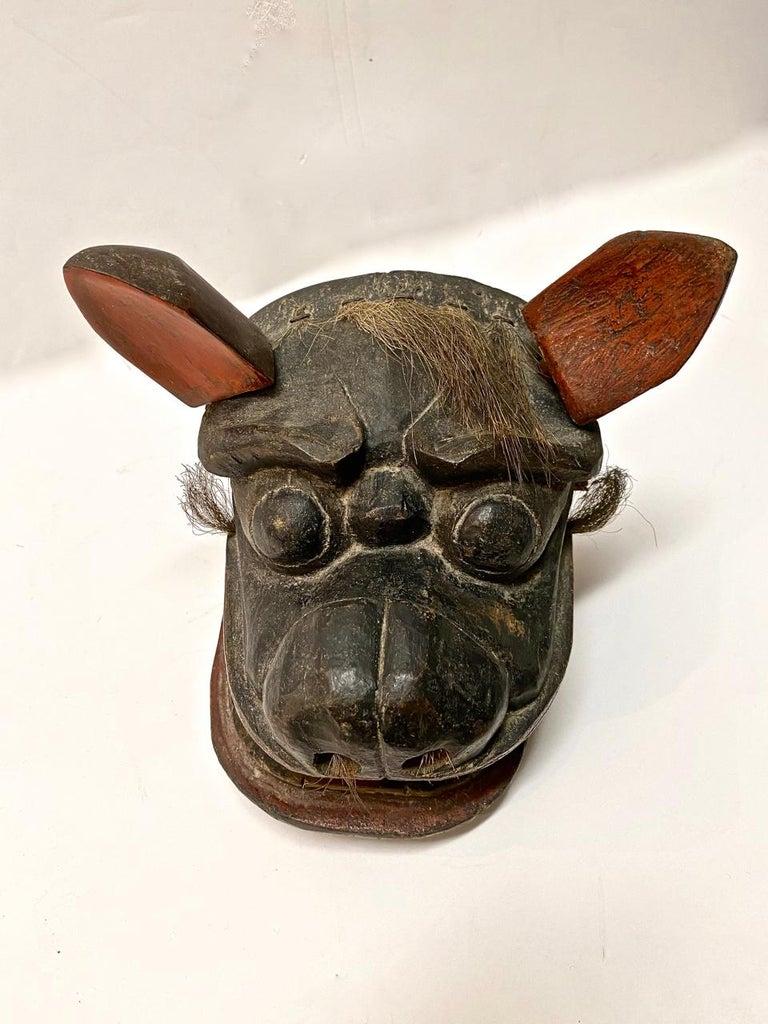 Japanese Edo Period Lion Mask II For Sale 5