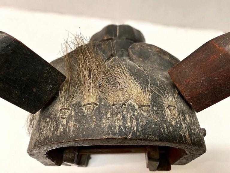 Wood Japanese Edo Period Lion Mask II For Sale