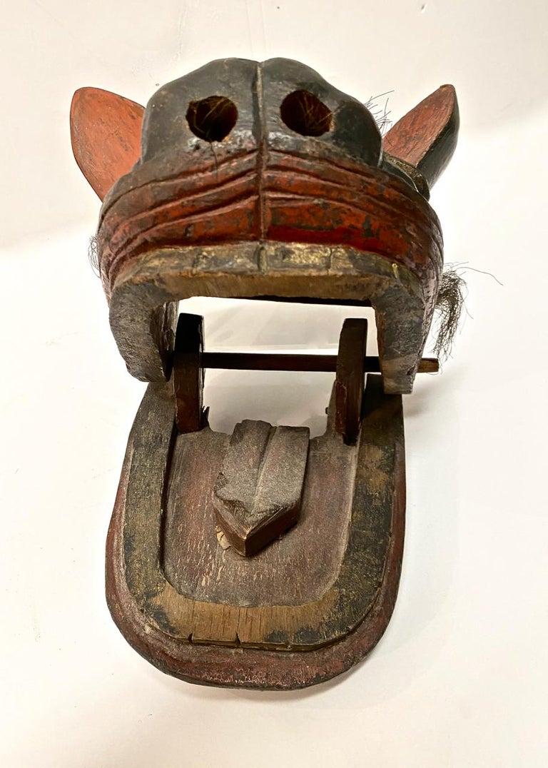Japanese Edo Period Lion Mask II For Sale 1