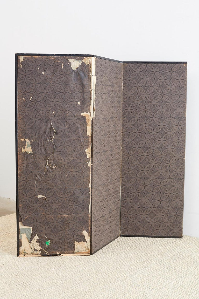 Japanese Edo Period Six Panel Screen of Chinese Scholars For Sale 12