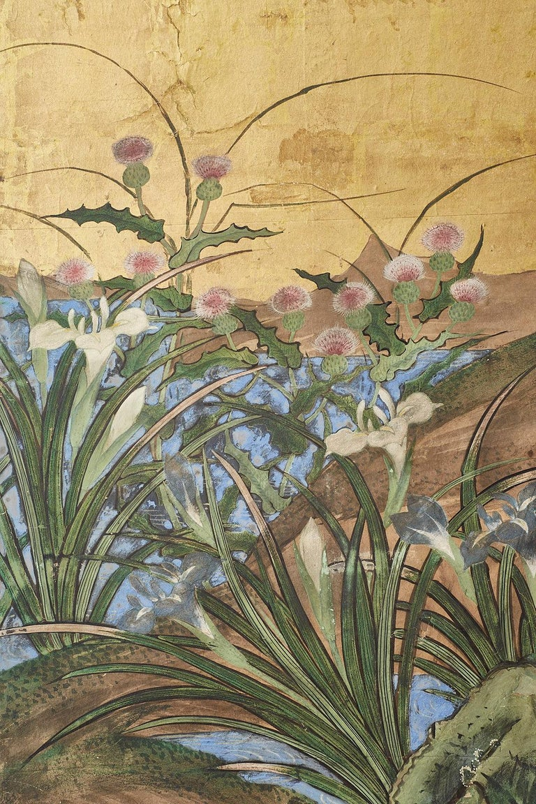Japanese Edo Period Six-Panel Screen Summer Landscape For Sale 6